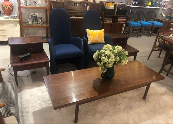 1970s Mid-Century Modern Teak Long Coffee Table