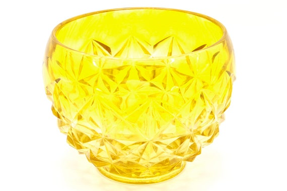Mid century Italian handblown glass yelloe with texture.
