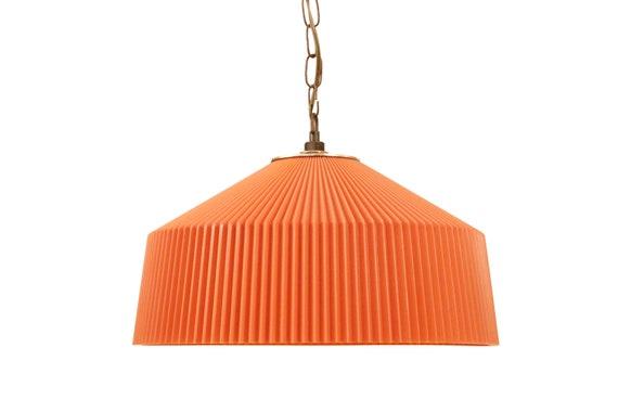 Mid-Century orange plastic chandelier 1970's