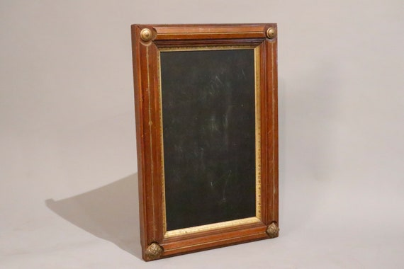 vintage chalkboard framed in gold