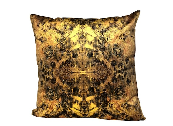 Modern Abstract Kaleidoscope Print Velvet Pillow