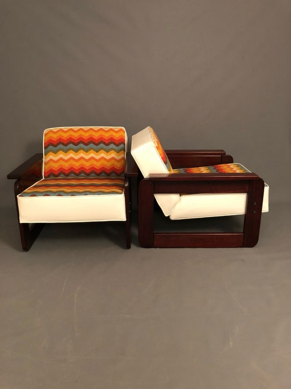 Mid-century Brazilian curated club chairs