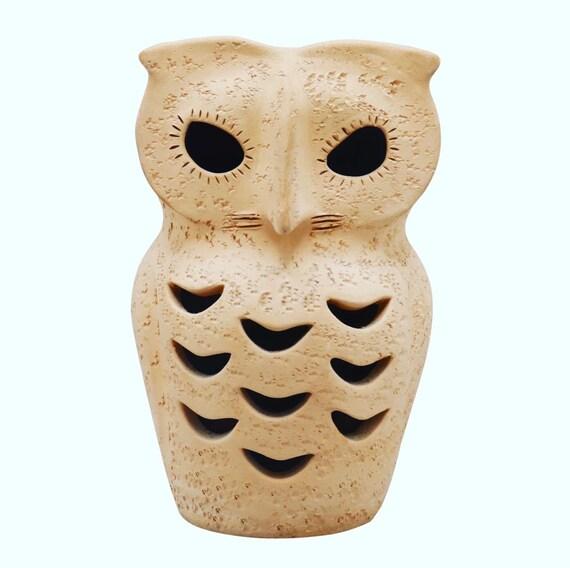 Mid-Century handmade  ceramic owl Sculpture