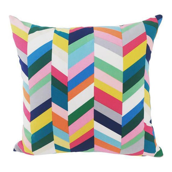 Multi Colored geometric style Handmade Square Pillow