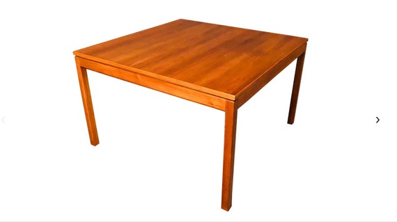 1960s Vintage Jens Risom Co. Walnut Coffee Table