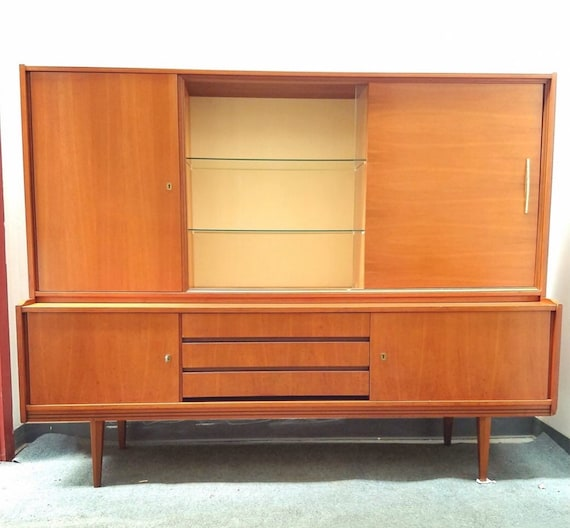 1960's midcentury teak credenza Bar cabinet made in Germany by Munker Modell