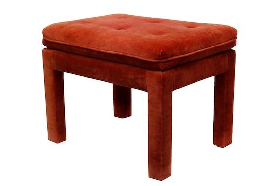 Mid century parson ottoman/end table