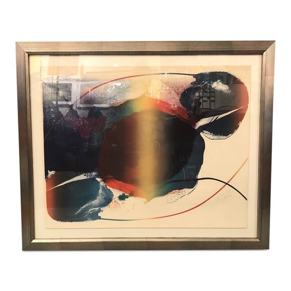 Paul Jenkins Signed Lithographed Framed