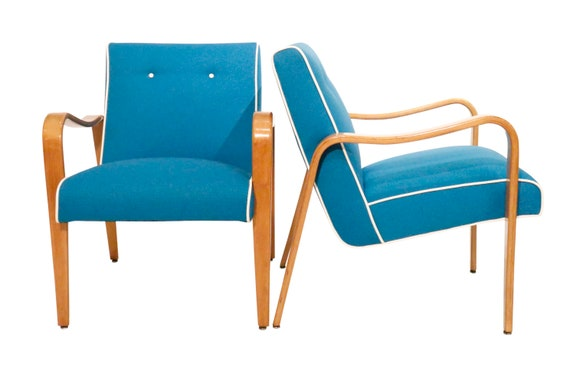 Pair of Mid-Century curated lounge chairs by Thonet Co. 1960's