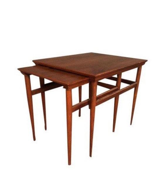1970s Danish Modern Teak Nesting Tables - Set of 2