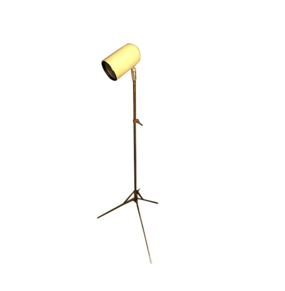 Vintage Beige Mid-Century Modern Floor Lamp