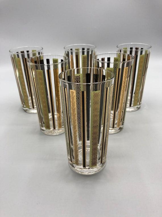 Need century 14K Gold highball drinking glasses Set of 6