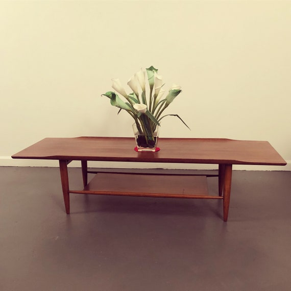 Mid-Century danish teak long coffee table