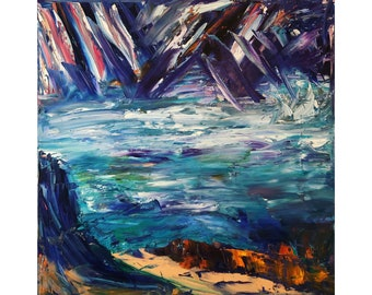 """Bruce Mishell """"Ice Castles""""  """"20 x 20"""" inches gicle print."""