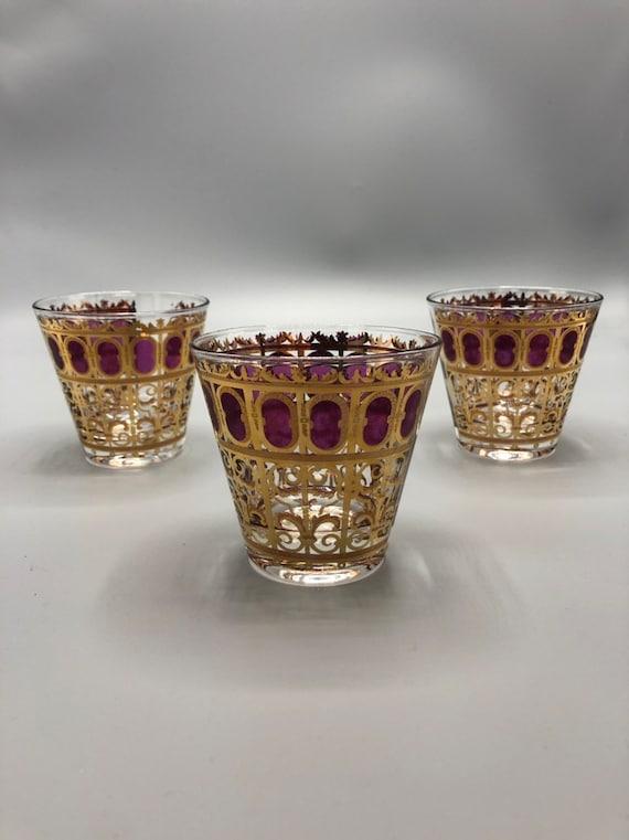Mid-Century 14K Gold martini glass set of 3