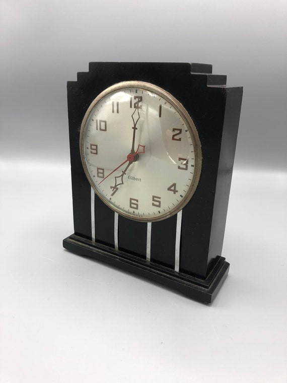1930's Art Deco electric clock by Gilbert Co.