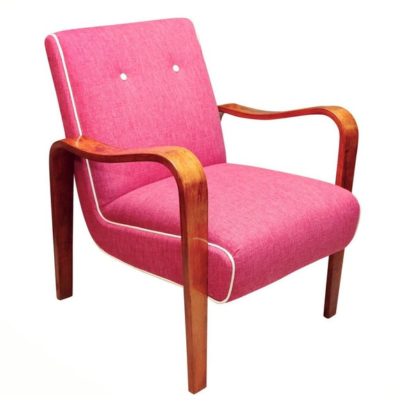 "Mid century curated bentwood arms lounge chair by ""Thonet"""