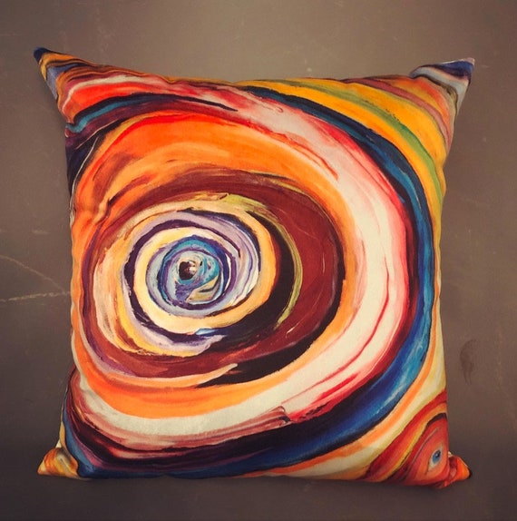 Bruce Mishell Modern Hand Made Abstract Art Print Pillows - a Pair