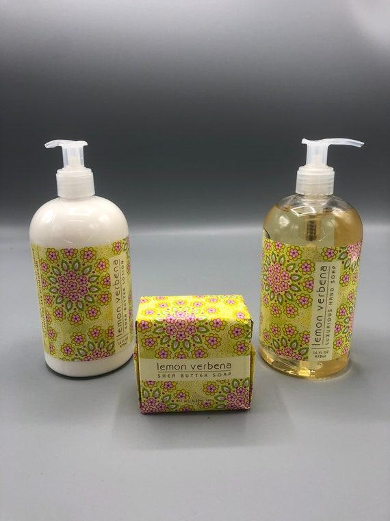 Lemon verbena luxurious hand soap |  Shea Butter lotion & bar soap