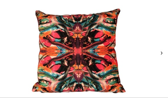 Bruce Mishell Contemporary Kaleidoscope Velvet Pillow
