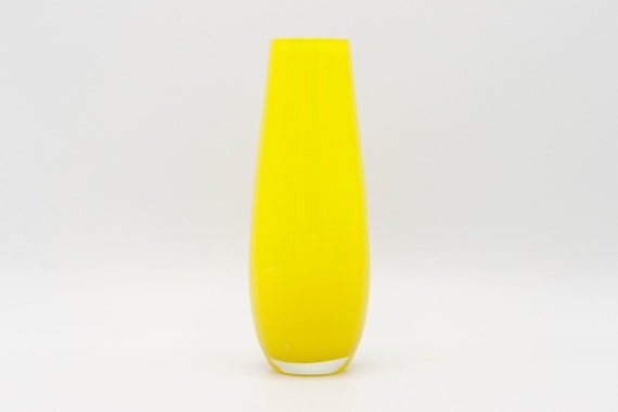 Mid-Century italian murrano yellow small vaee.