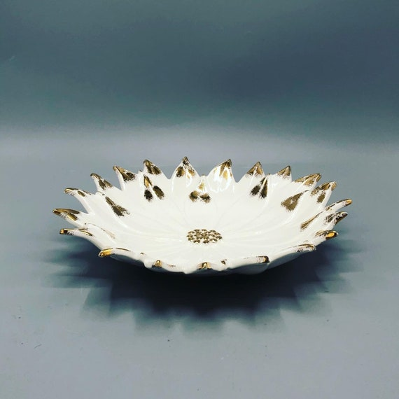 Mid century handmade porcelain bowl signed 1962