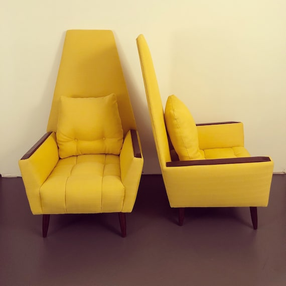 mid century high back lounge chair Adrian Pearsall style