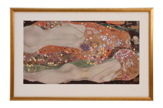 Original signed lithograph printed in Vienna and signed gold framed