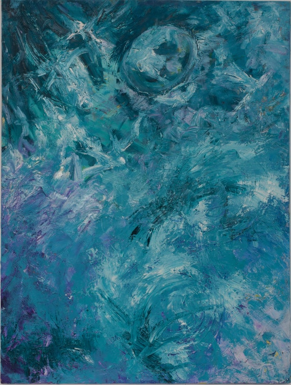 "Bruce Mishell, ""Blue Moon""  36"" x 48"""