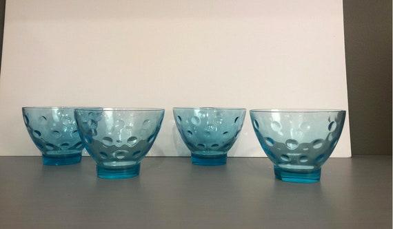 Vintage Mid-Century Compote Desert Glasses - Set of 4