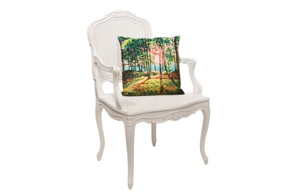 Curated antique queen Ann canning armchair painted in white 1900's