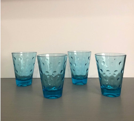Vintage Mid-Century Small Handblown Glasses - Set of 4
