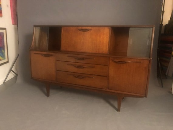 Mid-Century Sideboard Danish walnut Console Furniture, Cabinet Buffet Server Sideboard Storage
