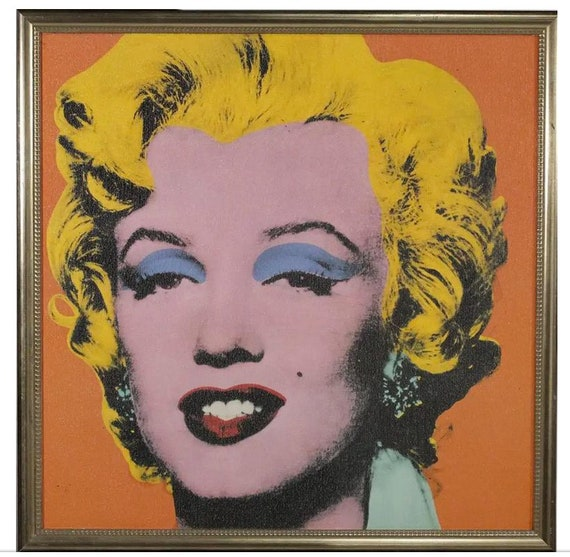 1970s Vintage Marilyn Monroe After Andy Warhol Framed Print