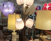 Mid Century sculptured accent lamp Adrian Pearsall style with 6 glass shades
