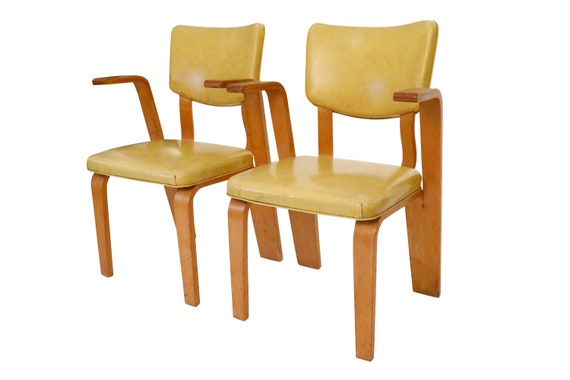 Mid century pair of dining chairs design by  Thonet 1960's - PAIR