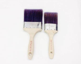 "Superior Quality Large Paint Brushes - 4"" Large Flat - 3"" Medium Oval - 2"" Small Oval - The best paint brush for cutting in"