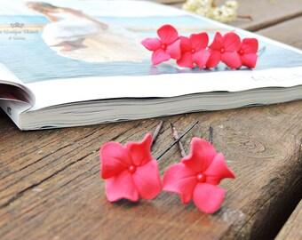 Hairpins for bride, Bridal accessories , Hair accessories , Bridal hairstyle,  Hairpins , Hairpins with hydrangeas
