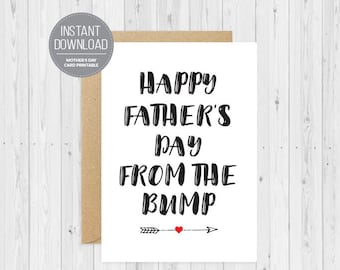 Happy Father's Day From The Bump, Digital Download, Pregnancy Announcement, From the Bump, New Father's Day Card, Custom Father's Day