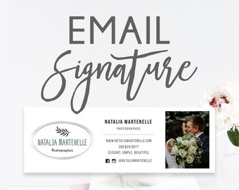 Email Signature, Image or Html Email Signature, Custom Gmail and Outlook Signature, Custom Email Signature, Elegant Email Signature