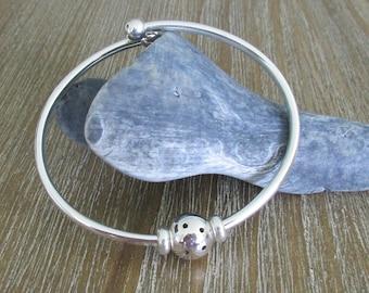 NEW!! Sterling Silver Flexible Pickleball Bracelet