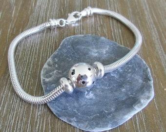 Beautiful Sterling Silver Pickleball Bracelet