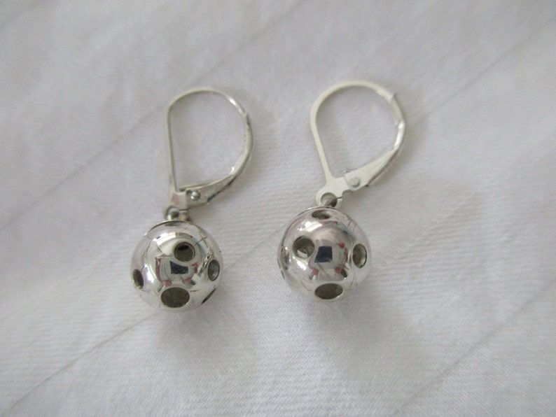 Sterling Silver Leverback Pickleball Earrings Pbe38 image 0