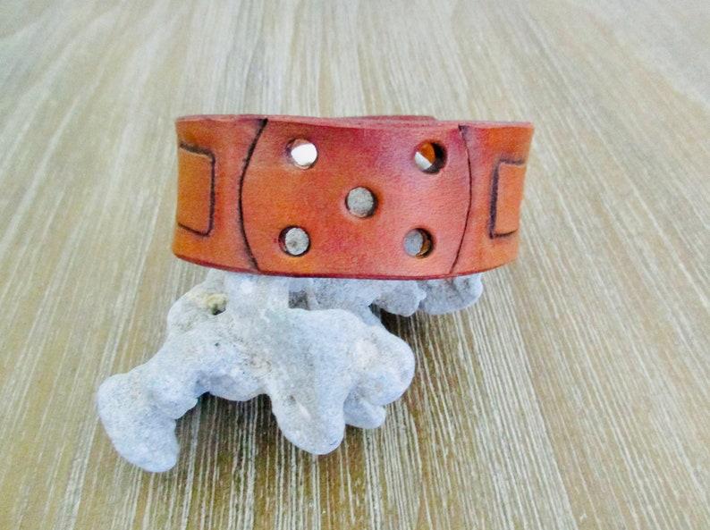 Leather Cuff Pickleball Bracelet pbblthr image 0