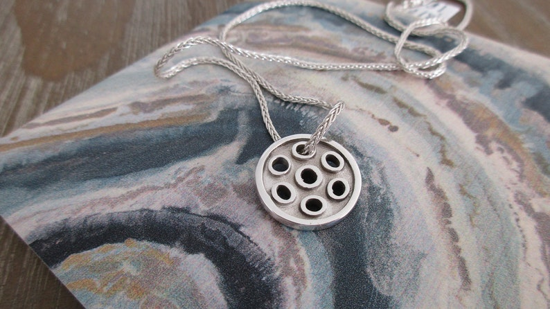 NEW Darling Sterling Silver Reversible Pickleball Pendant image 0