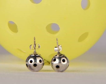 Sterling Silver Stud Picklball Earrings (Pbe30)