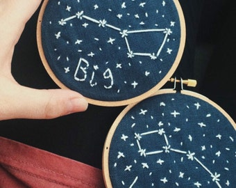 Big and Little Constellation Hoops