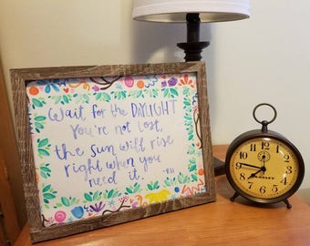 Watercolor Framed Quote