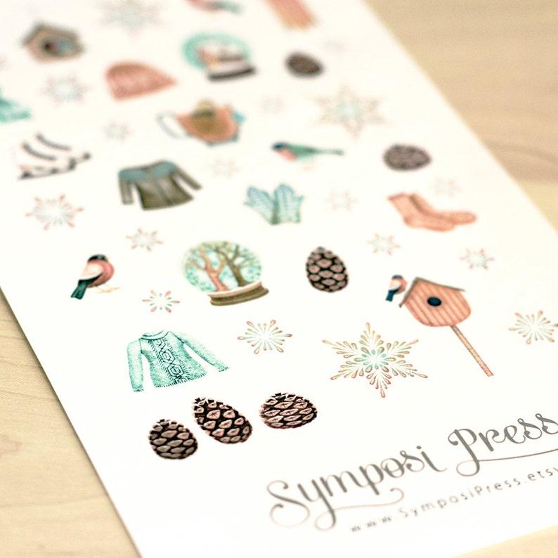 Winter Wonderland  Watercolor Planner Stickers image 0