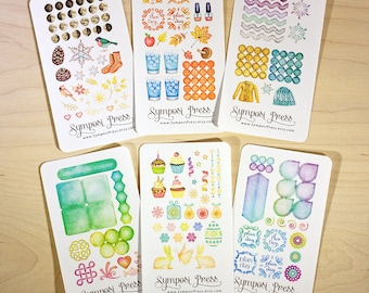 Sample Pack  - Watercolor Planner Stickers